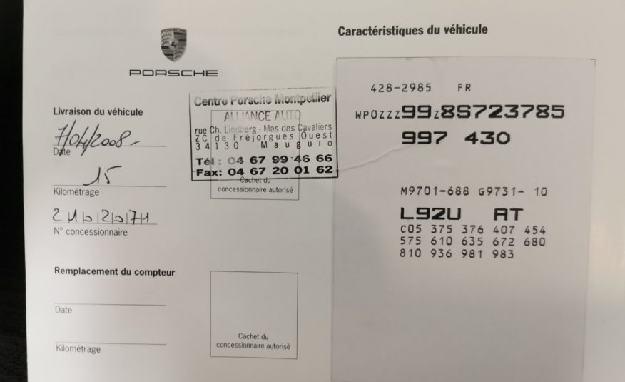PORSCHE 997 4S 3.8l 355ch